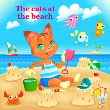 The cats at the beach