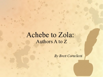 Achebe to Zola