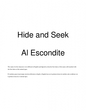 Hide and Seek (Al Escondite)