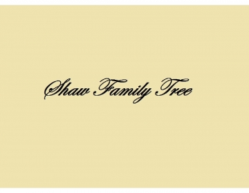 Shaw Family Tree