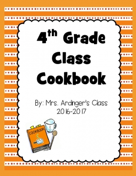 4th Grade Cookbook 2017