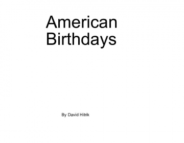 American Birthdays