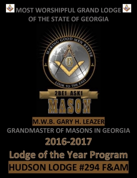 HUDSON LODGE #294 F&AM 2017 BOOK