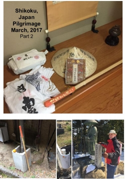 Shikoku, Japan 88 Temple Pilgrimage part 2  March 2017