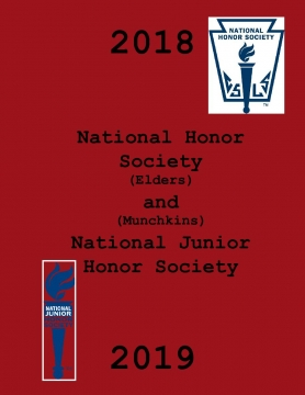 National Honor Society and National Junior Honor Society of 2018-2019