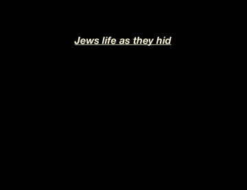 Jews life during the holocaust