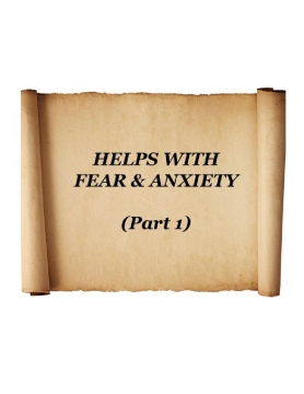 HELPS WITH FEAR & ANXIETY