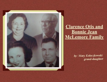 Clarence Otis and Bonnie Jean McLemore Family