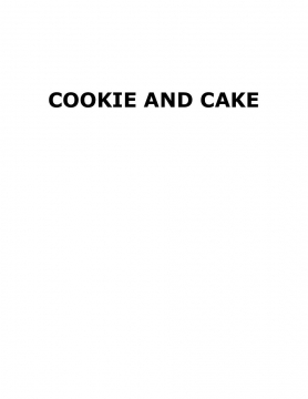 cookie and cake