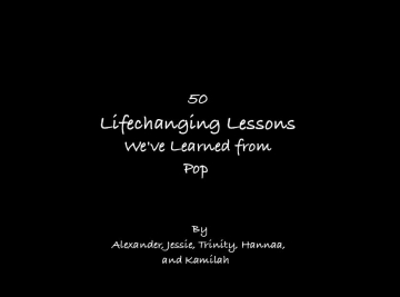 50 Lifechanging Lessons We've Learned From Pop