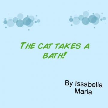 A cat takes a bath!