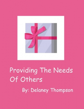 Providing The Need Of Others