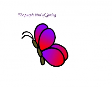 The purple bird of Spring