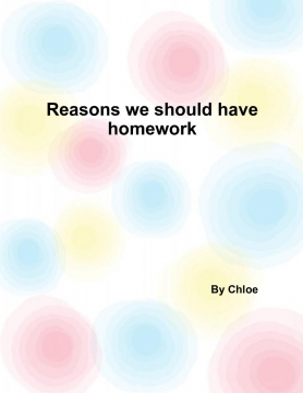 reasons we should have homework