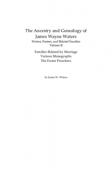 Genealogy of James Waters Vol. II