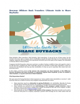 Bowman Offshore Bank Transfers: Ultimate Guide to Share Buybacks