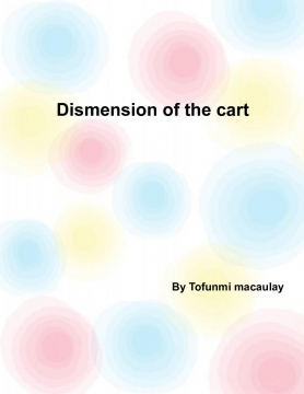 Dismension of the cart