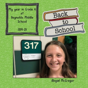 2019-20 - My Year in Grade 6 at Reynolds Middle School