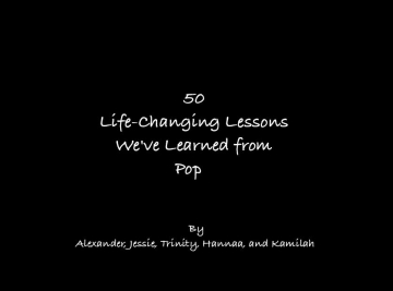 50 Life-Changing Lessons We've Learned From Pop