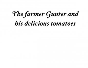 Gunter and his lovely tomatos