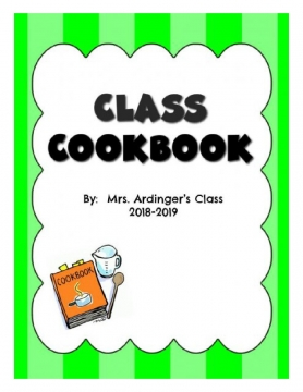 Mrs. Ardinger's Class Recipes 2019