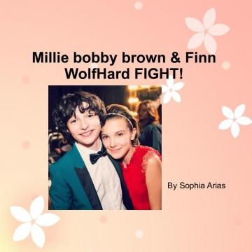 Millie bobby brown & Finn WolfHard fight