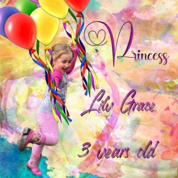 Princess Lily Grace 3 years old