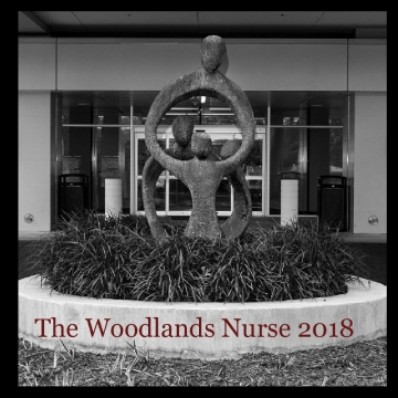 The Woodlands Nurse 2018 - maroon text