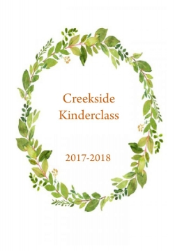 Creekside Kinderclass Yearbook 2017-2018