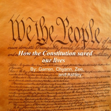 How the constitution saved our life
