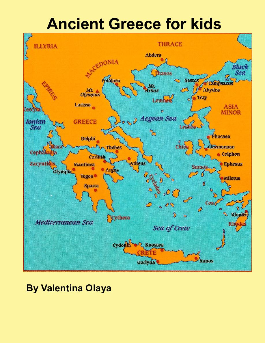 This is a graphic of Influential Ancient Greece Map Labeled