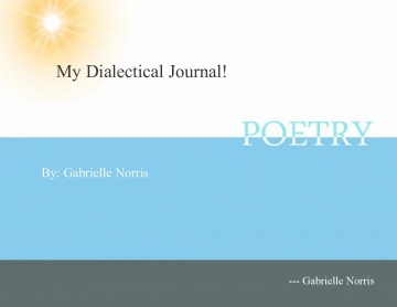 Dialectical journal