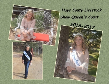 Hays County Livestock Show Queens Court 2016-2017