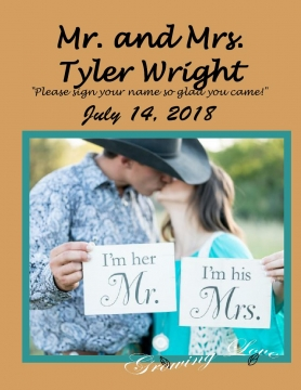 Ty and Kaitlyn Wedding Guest Book