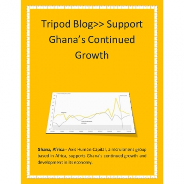 Tripod Blog>> Support Ghana's Continued Growth