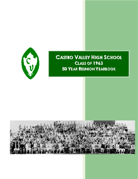 CVHS Graduating Class of 1963,  50 Year Reunion Yearbook