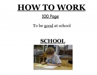 How to work