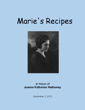 Marie's Recipes