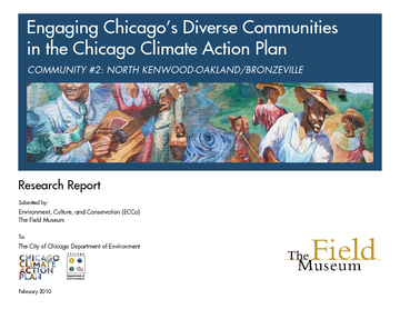Engaging Chicago's diverse Communities in the Chicago Climate Action Plan