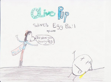 Olive Pup Saves Egg Ball