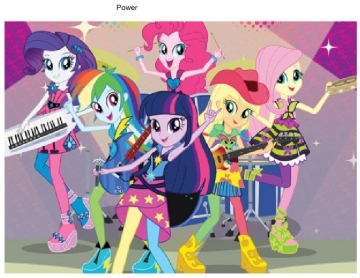Power with the my little pony girls