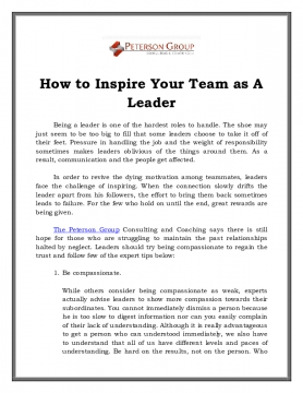 How to Inspire Your Team as A Leader