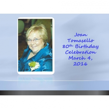 Mom Tomasello Birthday Celebration