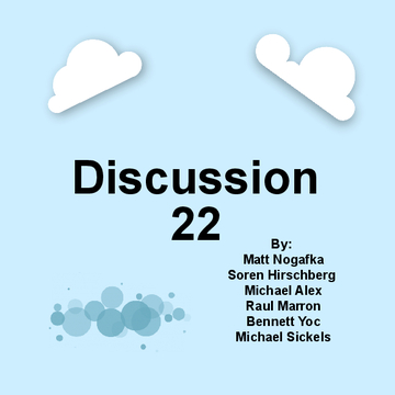 Discussion 22