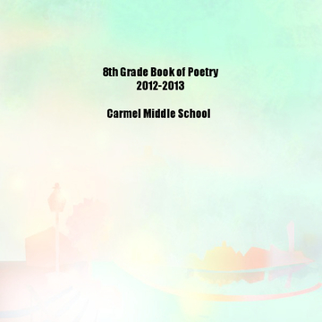 1st and 3rd block Poetry Book