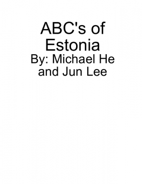 ABC's of Estonia Culture