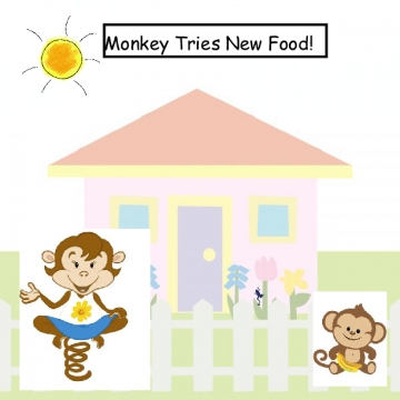 Monkey Tries New Food