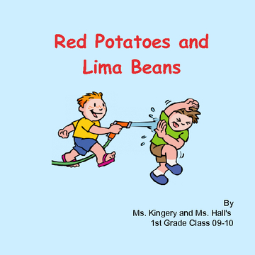 Red Potatoes and Lima Beans