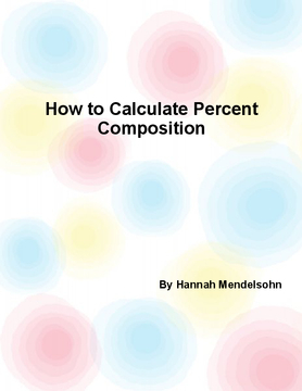 How to Calculate Percent Composition