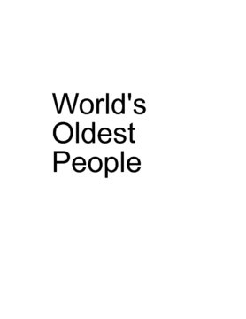 World's Oldest People